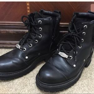 Shoes - Women's Motorcycle Riding Boots Black Leather
